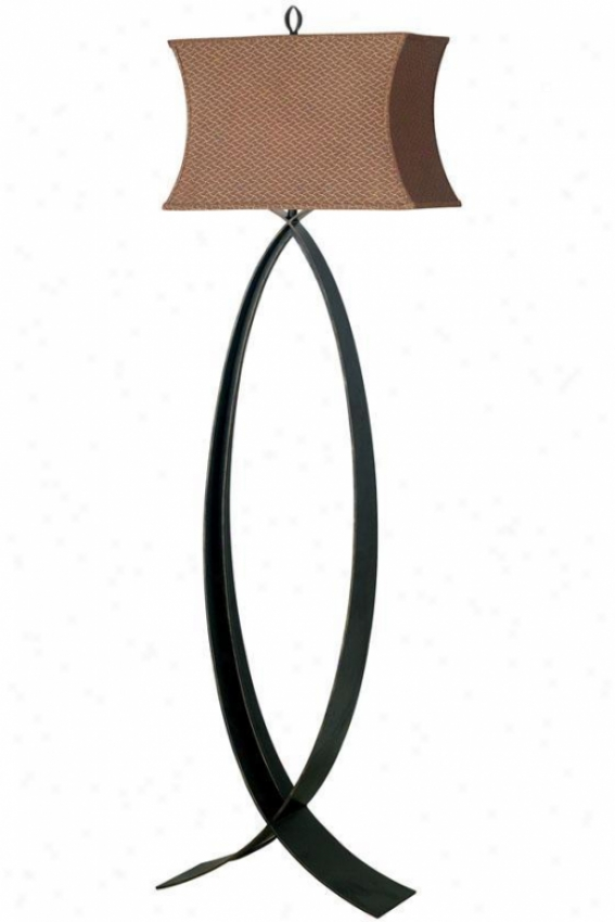 Structure Pisces Floor Lamp - Cinnamon Shade, Steel Gray