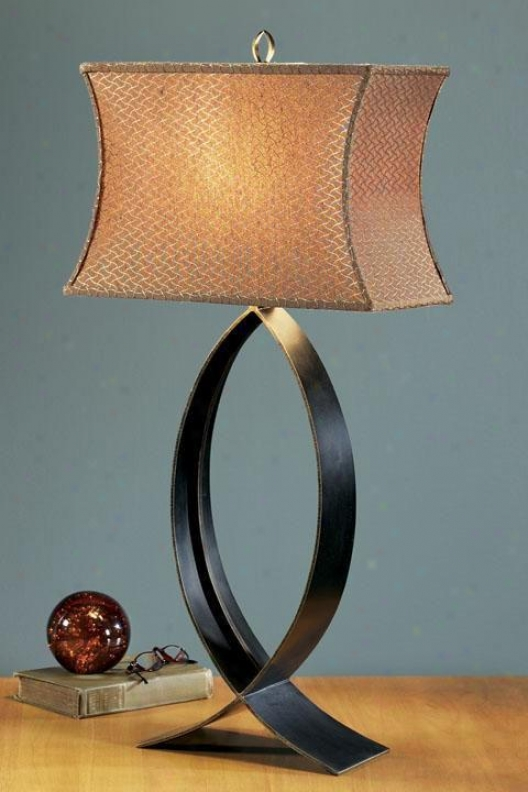 Structure Pisces Table Lamp - Cinnamon Shade, Steel Gray