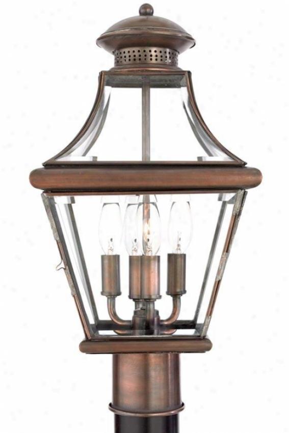"""suffolk Outdoor Lantern Post - 21""""j, Copper Copper"""