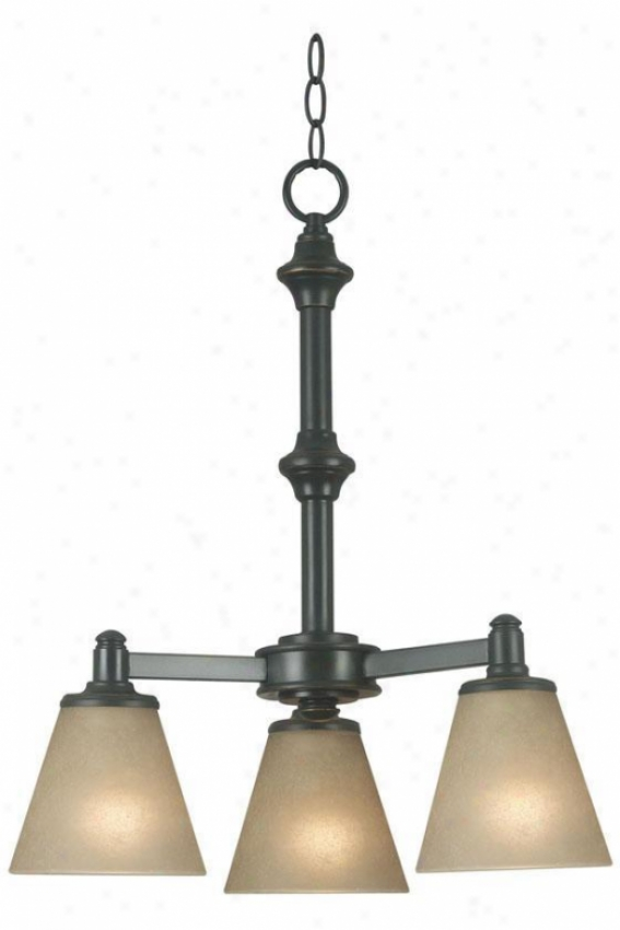 Tallow 3-light Chandeliee - Amber Glass, Brown