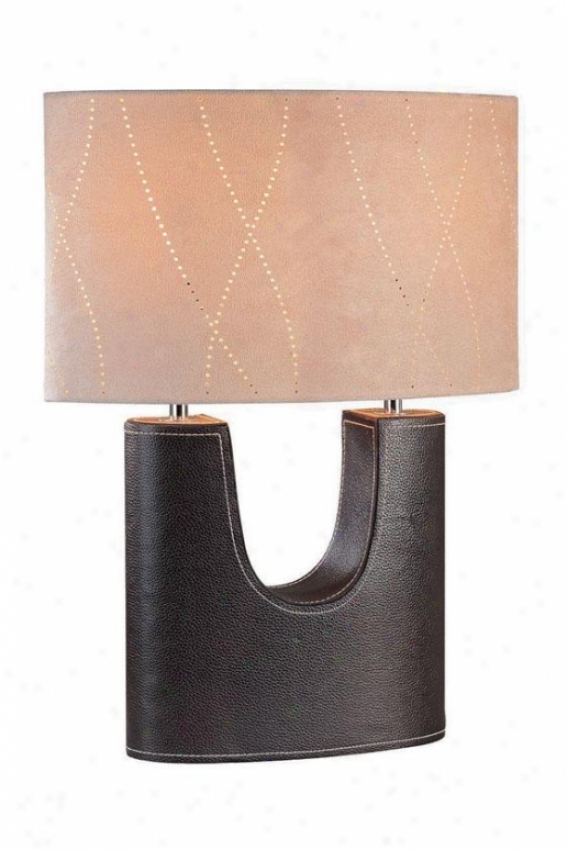 """tanner Table Lamp - 18.5h X 13.5""""w, Coffee Brown"""