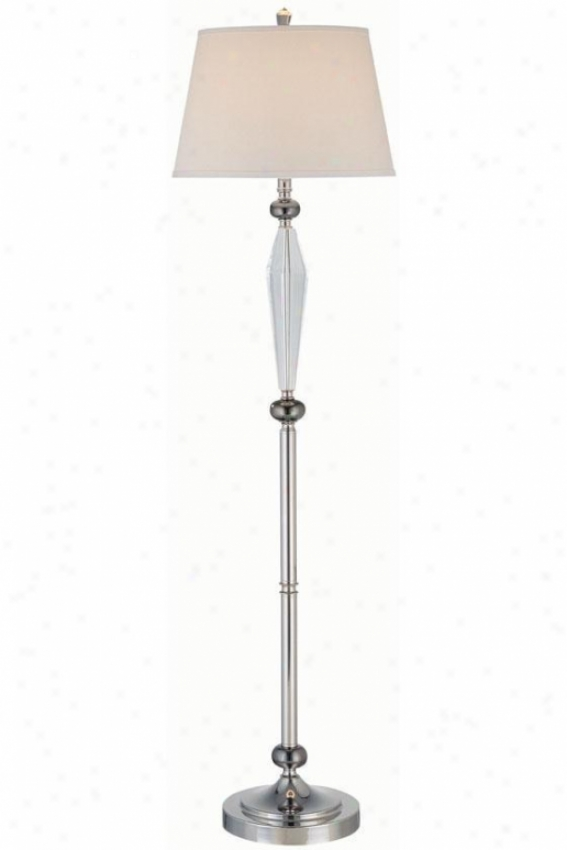 """tara Floor Lamp - 16.5""""x60.5"""", Black"""