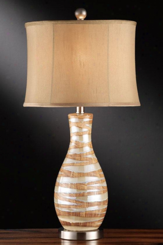 """tarragon Table Lamp - 27""""h, Tarragon Green"""