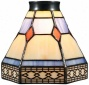 """lacy Fan Vanity Light Shade - 2.25"""" Neck, Beige"""