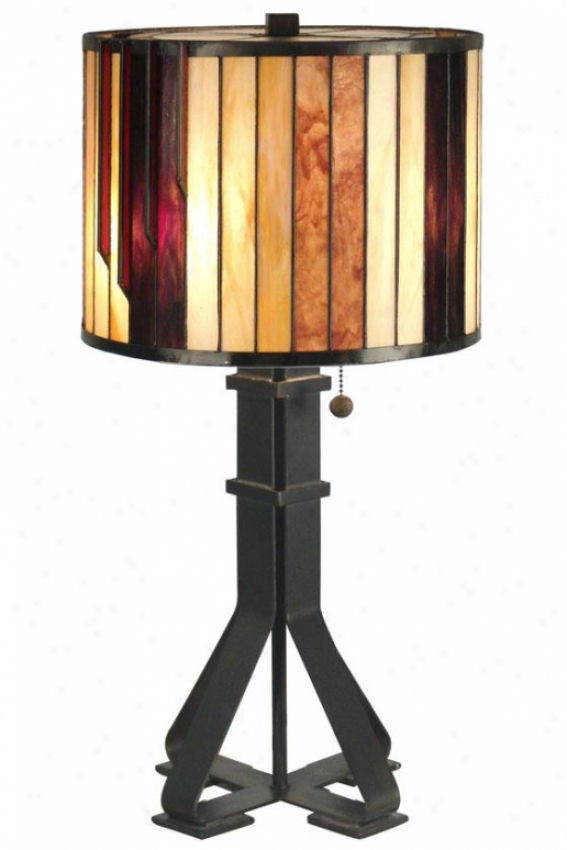 """tiffany 26""""h Table Lamp - 26h X 13.5""""d, Wicked Antq Bronz"""
