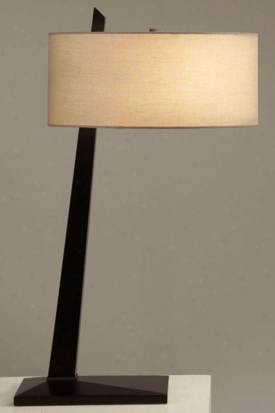 """tilt Table Lamp - 30""""hx16""""round, Brown"""