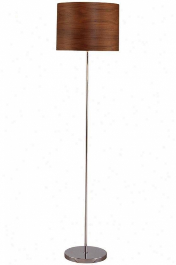 """""""timberly Floor Lamp - 59.75""""""""hx15""""""""d, Silver Chrome"""""""