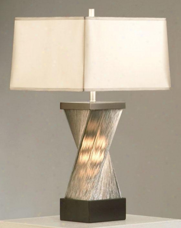 """torque Table Lamp - 28""""hx16""""round, Silver"""