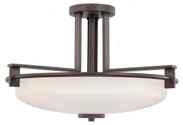 Truman 4-light Semi-fllush Bowl Mount - 4-light, Western Bronze