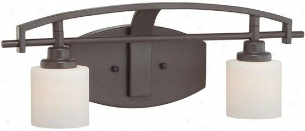 Truman Curved 2-light Vanity Light - 2-light/curved, Western Bronze