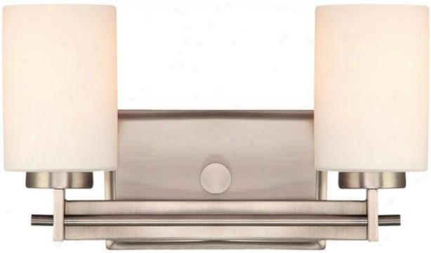 Truman Rectangular 2-light Vanity Light - 2-light/rctngl, Nickel