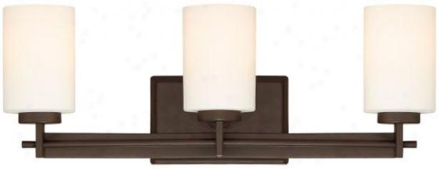 Truman Rectangular 3-light Vanity Light - 3-light/rctngl, Western Bronze
