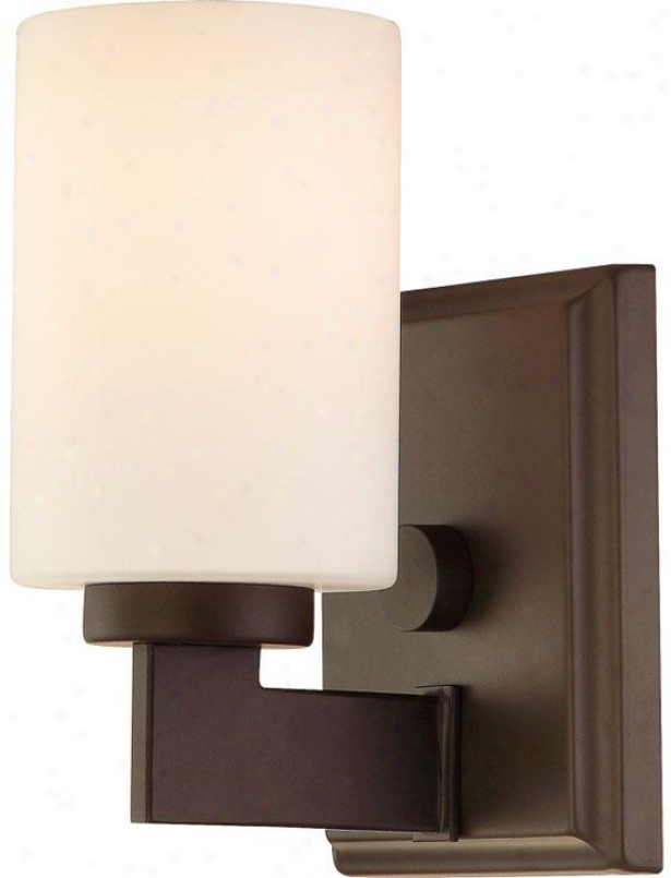 Truman Sqquare Bath Sconce - 1-light/square, Western Bronze