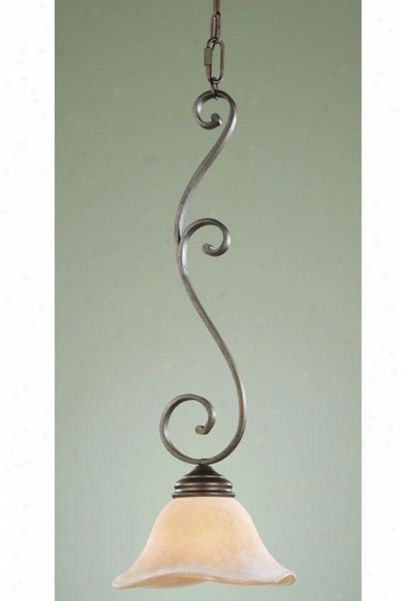 """""""tuscan Villa Mini Pendant - 26""""""""h X 9.5""""""""w, Bronze"""""""