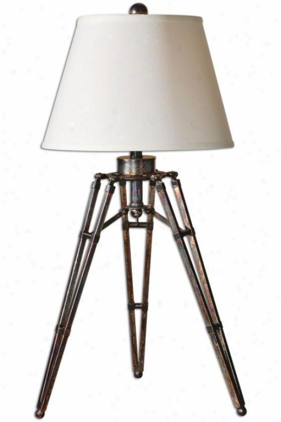 """tustin Table Lamp - 34""""h X 16""""w, Bronze Finish"""