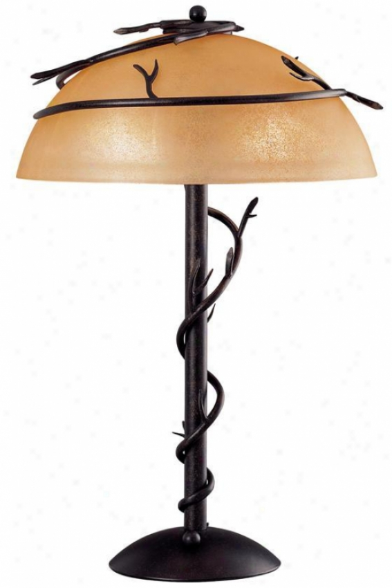 """tsigs Vine Table Lamp - 25""""h, Bronze"""