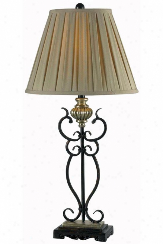 """twins Table Lamp - 34""""hx16""""w, Bronze"""