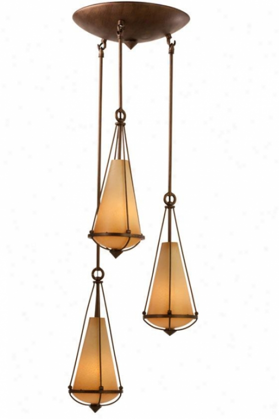 Two-if-by-sea Pendant - Three Light, Steeple Chase