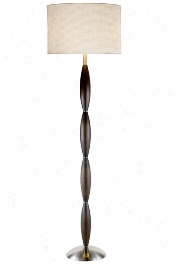 """""""urbane Floor Lamp - 68""""""""h, Brown Wood"""""""