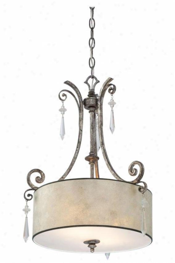 Vanessa 2-light Pendant - 2-llight, Mottled Silver
