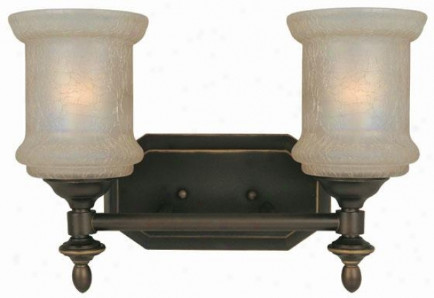 Vashon 2-light Vajity Light - Two Unencumbered, Bronze