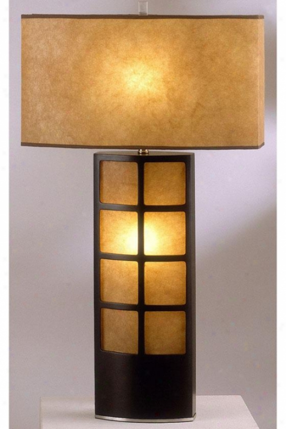 """ventanilla Table Lamp - 31""""h, Brown"""