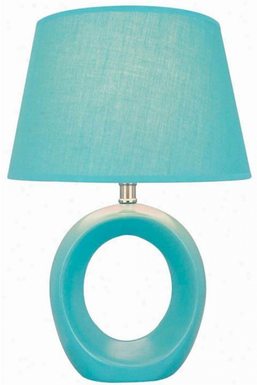 Viko Table Lamp - Bkue Fabric Shd, Blue