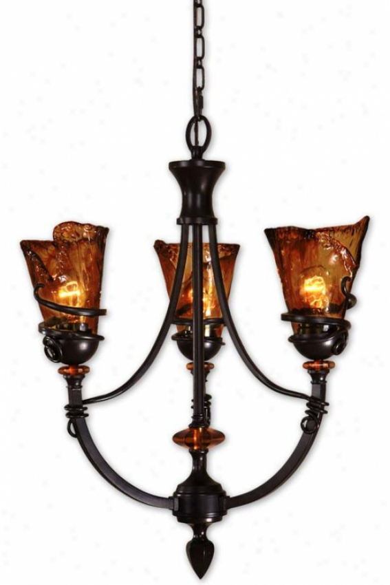 Vitalia 3-light Chandelier - 3 Light, Copper Bronze