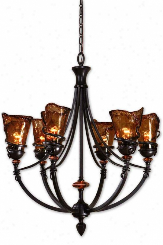 Vitalia 6-light Chandelier - 6 Light, Copper Bronze