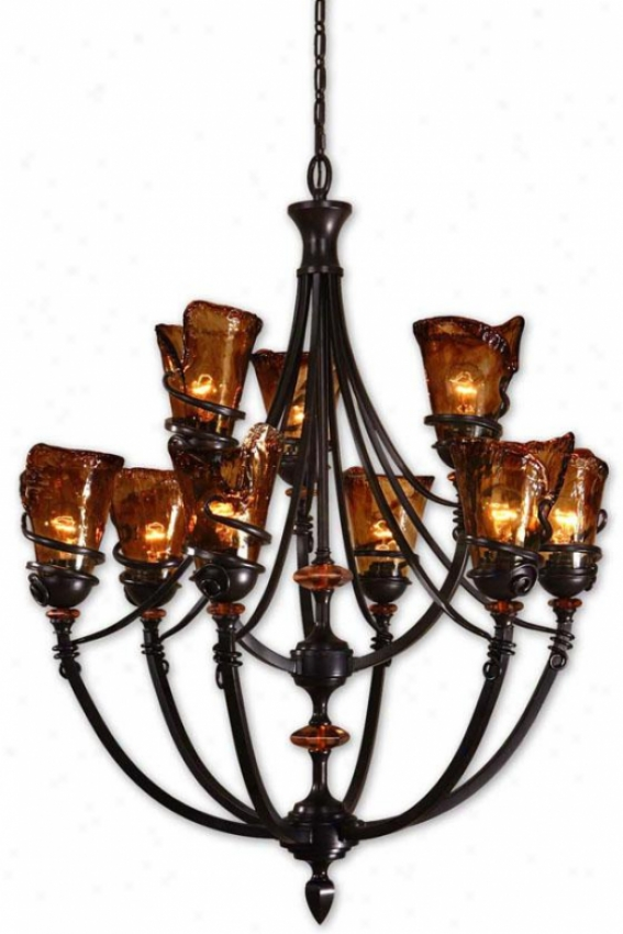 Vitalia 9-light Chandelier - 9 Light, Copper Bronze
