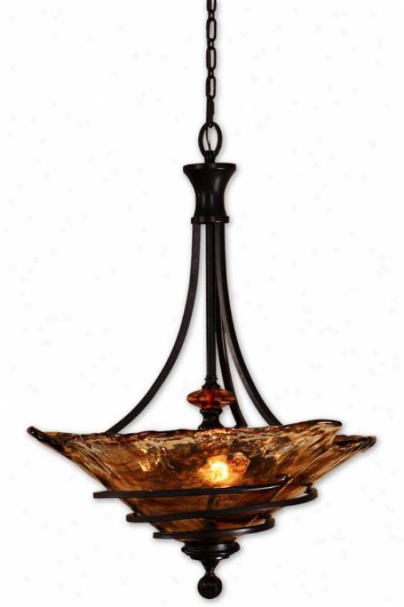 Vitalia Ear-ring - 3 Light, Copper Bronze