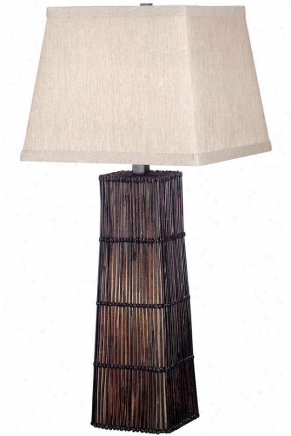 """""""wakefield 32""""""""h Table Lamp - 32""""""""h, Dark Rattan"""""""