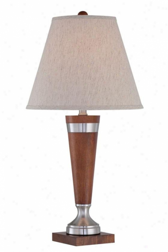 """warwick Table Lamp - 26""""h X 15""""w, Brown Wood"""
