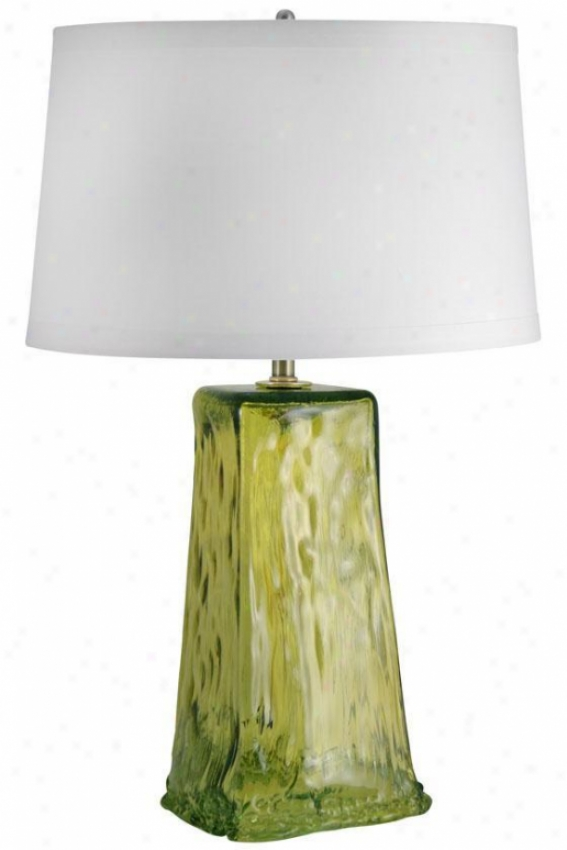 """wave Table Lamp - 30""h""x19""""w, Green"""