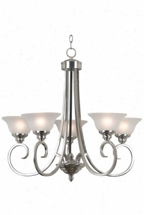 Wellington Chandelier - 5-light, Grey Stteep