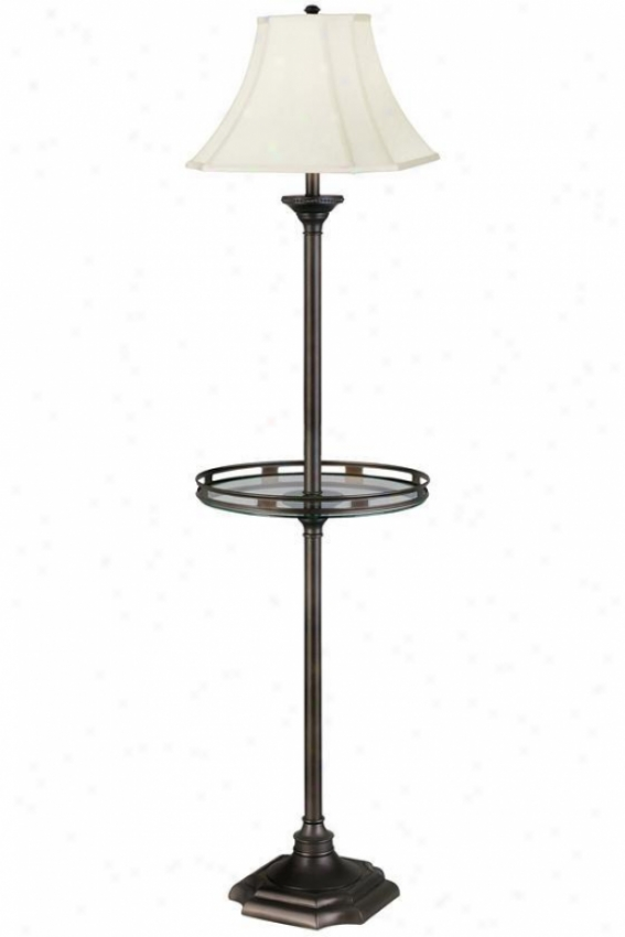 """wentworth Floor Lamp With Gallery Tray - 61""""h, Brown"""
