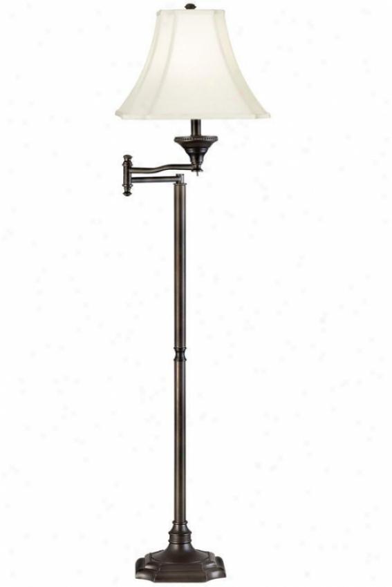 """wentworth Swing Take ~s Floor Lamp - 58""""h, Brown"""