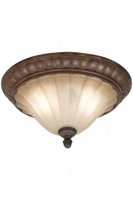 Wilkshire Flush Mount - 2-light, Copper Bronze