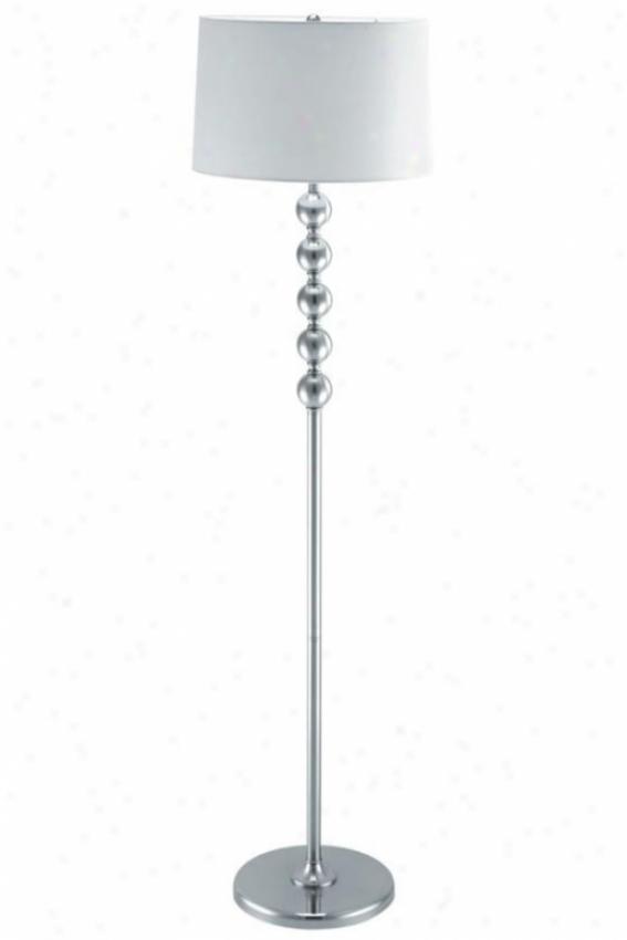 """wit Floor Lamp - 61""""hx16""""d, Silver"""