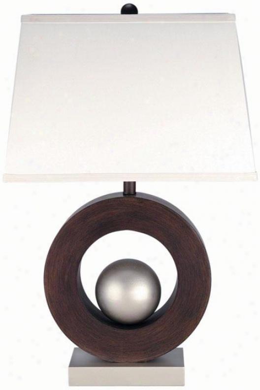 """wood Table Lamp - 29.5""""hx15""""w, Silver"""
