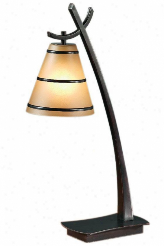 Wright Table Lamp With Scavo Glass - 1light, Small change