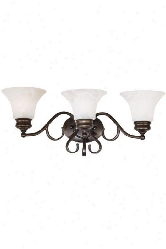 Wynwood Three-light Bath Light - Three Light, Bronze