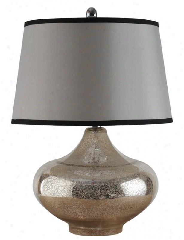 """yarmouth Tanle Lamp - 17""""wx17""""dx25""""h, Silver"""