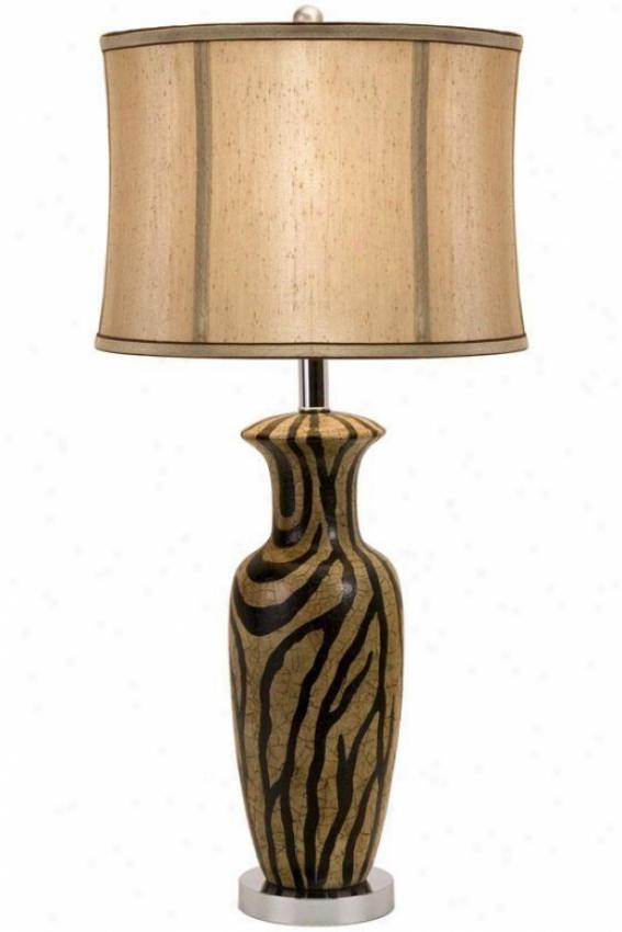 """zanado Ceramic Lamp - 30""""hx13""""d, Brown"""