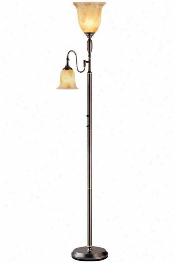 """zesiro Floor Lamp - 71.5""""hx10.5""""d, Bronze"""