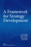 A Framework For Strategy Development