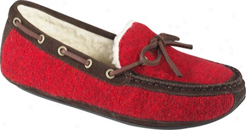 Acorn Ragg Time Moc (men's) - Red Wagg Wool