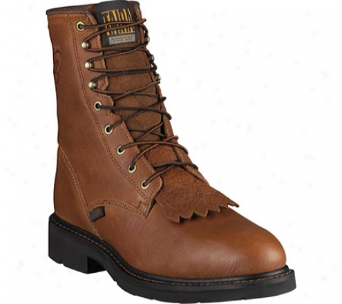"""ariat Cascade 8"""" Steel Toe (men's) - Sunshine Wildcat Full Grain Leather"""