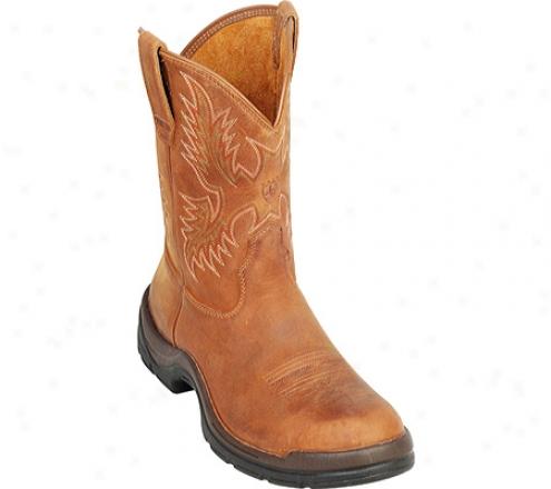 Ariat Flexpro Western Pull-on (men's) - Desert Brown Full Grain Leather