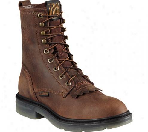 """ariat Impact Ii 8"""" Steel Toe (men's) - Alamo Brown Full Grain Leather"